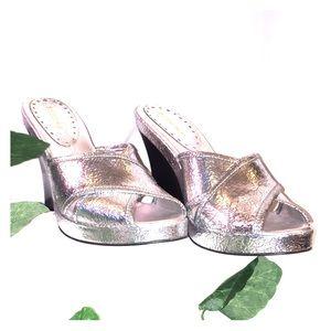 BCB Girls Sparkling Silver Platforms